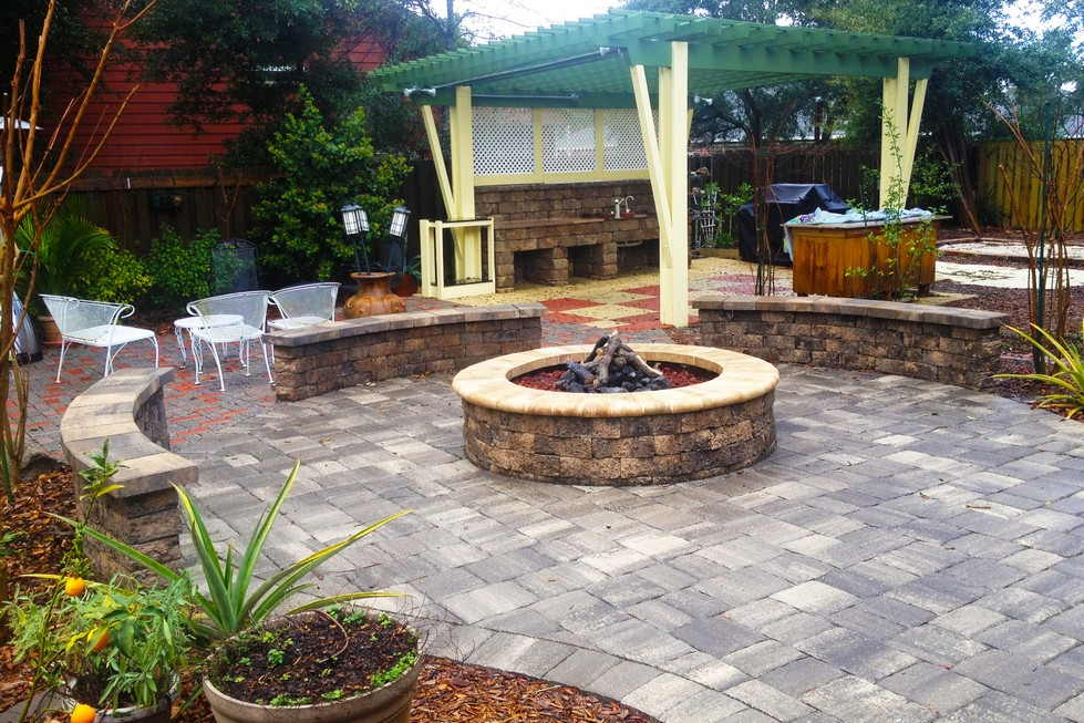 Paver Firepits and Fireplaces Delta Pavers