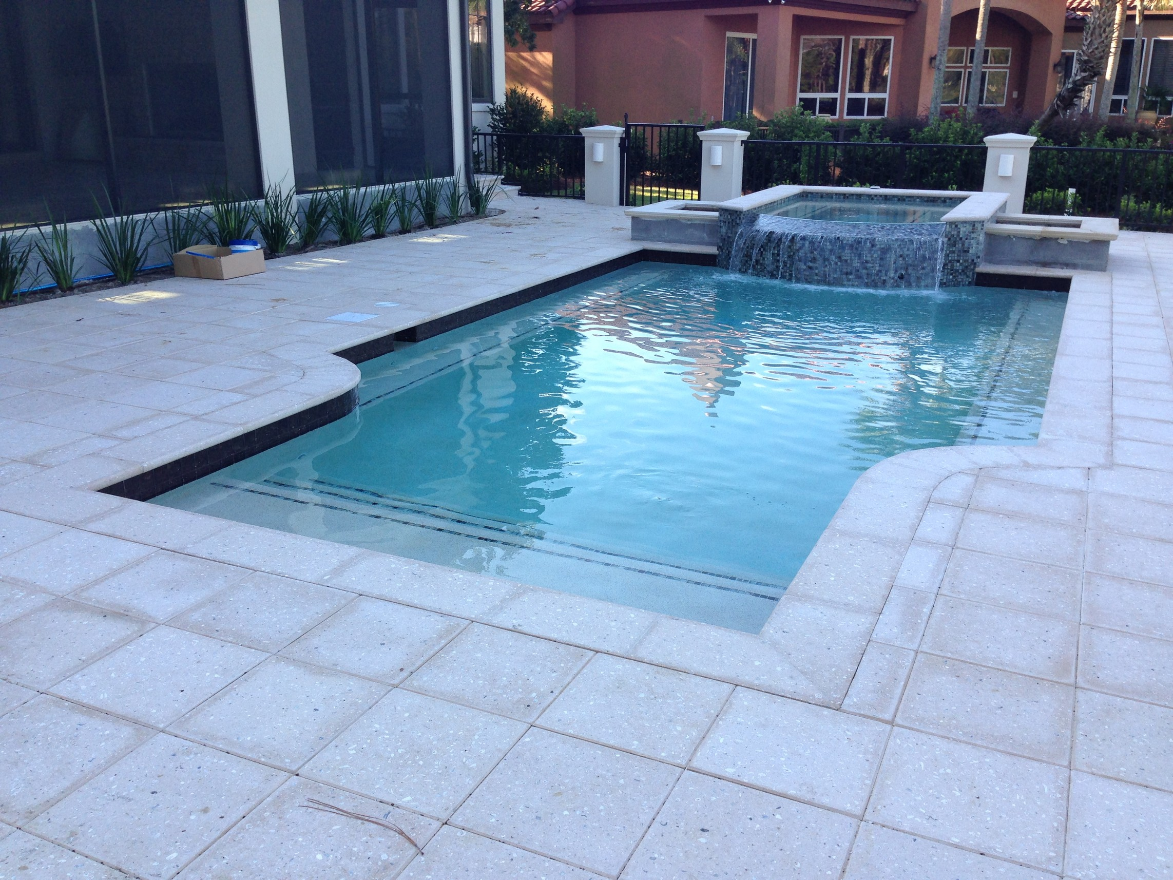 Paver Pool And Spa Decks Delta Pavers Pavers Retaining Walls